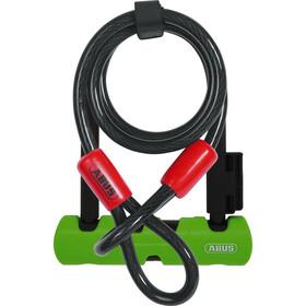 ABUS Ultra Mini 410/150HB140 SH34 U-Lock with Cobra 10/120, green